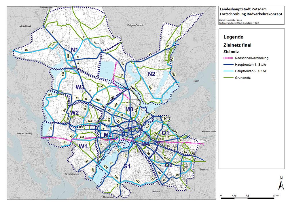 Radverkehrskonzept und Machbarkeitsstudie Radschnellwege Potsdam