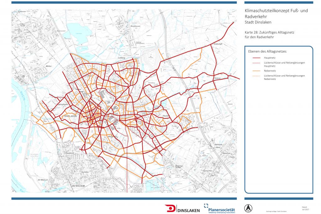 Klimaschutzteilkonzept für den Fuß- und Radverkehr in der Stadt Dinslaken