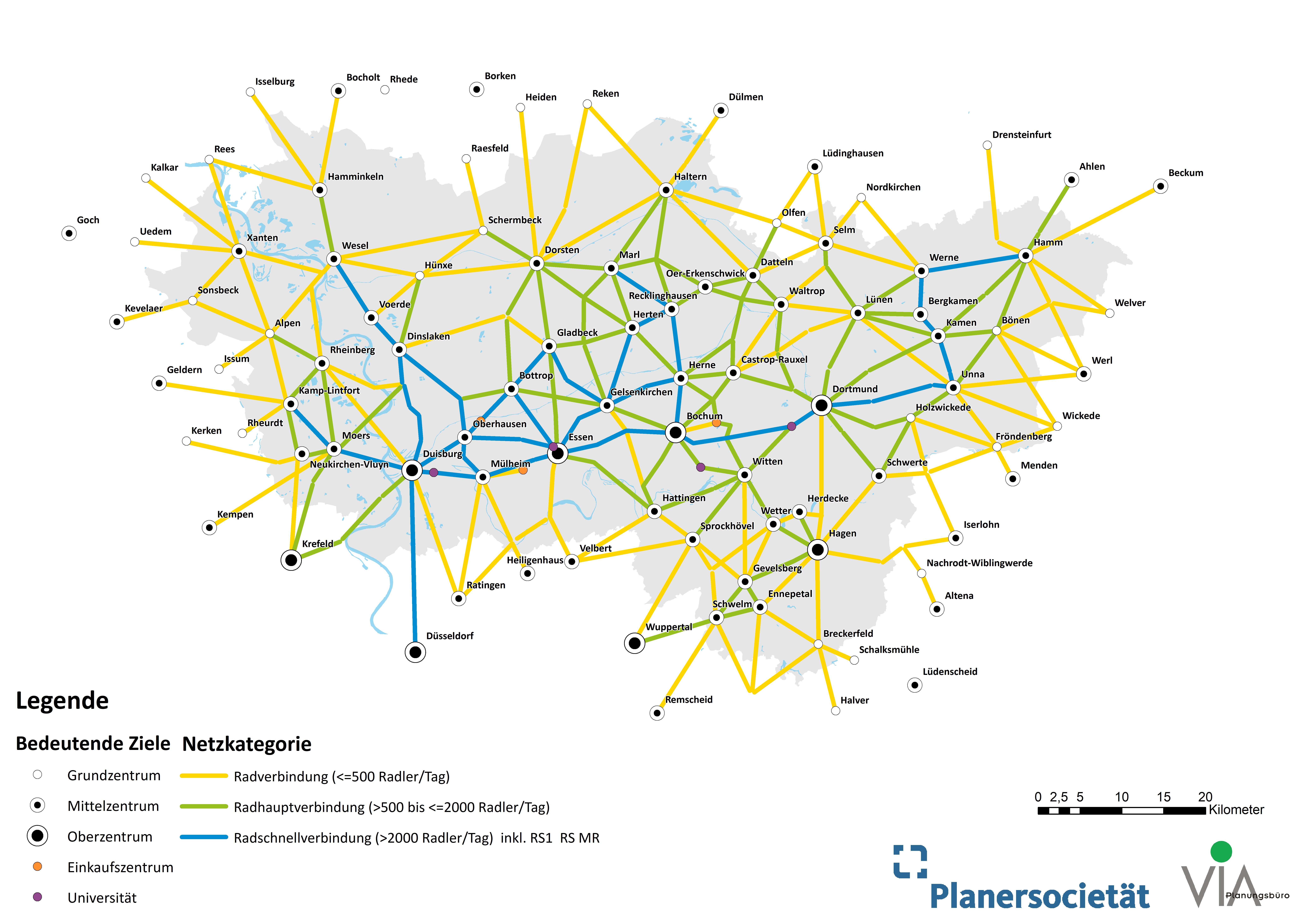 Weiterentwicklung Regionales Radwegenetz — Metropole Ruhr