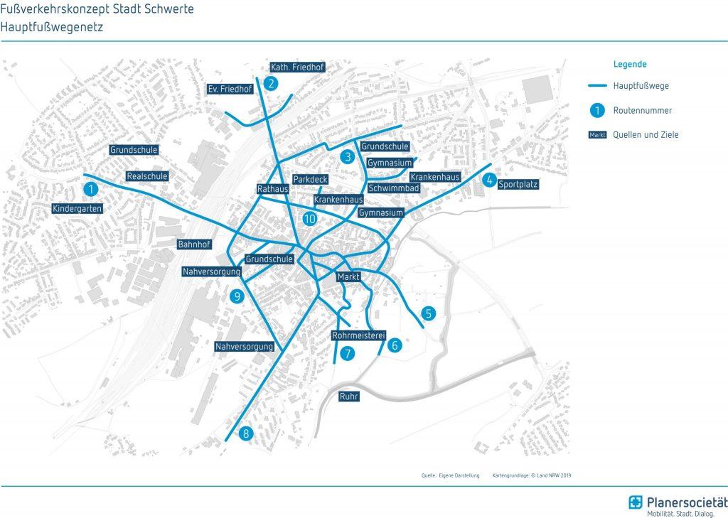 Fußverkehrskonzept für die Stadt Schwerte