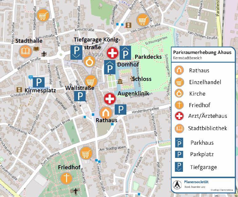 Parkraumerhebung und ‑konzeption StadtAhaus